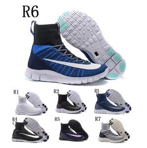 2017 высокое качество Мужчины Женщины сапоги бесплатно 5.0 RN обувь Mercurial Superfly 5.0 черный белый мода кроссовки размер Eur 36-44