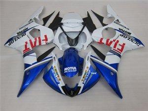 3 hediye Yeni Sıcak ABS motosiklet Fairing kitleri% 100 Fit 2005 Yamaha YZF İçin R6 YZFR6 2005 YZFR6 YZFR6 2005 Mavi Beyaz