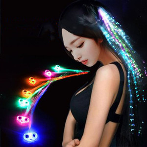 Lumineux LED Light Up Party Hairpin décoration flash Braid cheveux Glow Light-Up Jouets Glow Blinking cheveux Flash Clip LED Show Party