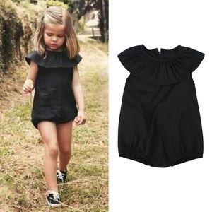 Оптовая продажа-дети девушки комбинезон летние малыши девушки мягкие случайные комбинезон новый цельный Детская одежда DS40