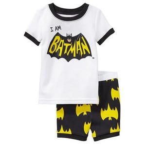 Новый летний ребенок пижамы костюмы мальчики пижамы дети пижамы девушки мультфильм пижамы домашняя одежда пижамы Детская одежда набор