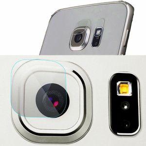50x Arka Kamera Lens + 50x Flaş Lens Esnek Temperli Cam Samsung S6 S6Edge S7 S7Edge Ultra Ince Yumuşak Elyaf Ekran koruyucu Film