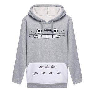 Al por mayor-Nueva sudadera unisex de dibujos animados Totoro sudaderas con capucha Animal Loose Pullover trajes de Cosplay para hombres / mujeres Ropa Mujer 22