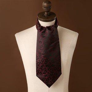 شحن مجاني tieset الرجل أسكوت وشاح ربطة العنق الأزياء الرجعية عنق الفاخرة طباعة النمط البريطاني شهم البولكا نقطة البوليستر حفل زفاف