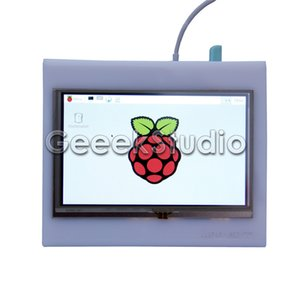 Touch screen LCD LCD 800x480 HDMI 5 pollici Freeshipping con custodia in acrilico per Raspberry Pi 3/2 / B +