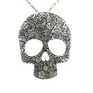 Al por mayor-Hot Womens Skull Vintage Gothic Colgante Declaración Babero Gargantilla Retro Charm Necklace Classic Jewelry Gift