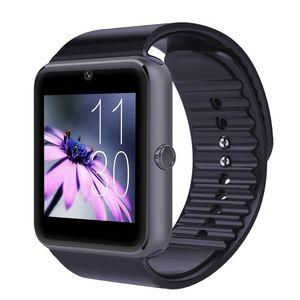 GT08 Bluetooth relógio inteligente com slot para cartão SIM e TF Relógios Saúde para Samsung Android e IOS Apple iphone Smartphone Pulseira Smartwatch