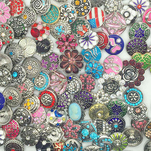 Snaps Charm Button Mix Style 18mm Botón intercambiable apto para Diy Ginger Snaps Jewelry