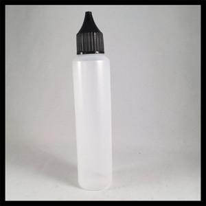 Unicorn Bottles E Liquid Flacons de 50 ml avec compte-gouttes à pointe d'aiguille et forme de stylo grand ouvert PE vide bottes