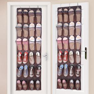168 * 48 cm detrás de puertas almacenamiento de la bolsa 24 bolsillos para no tejidas hanging Zapatos Organizador Bolsa con ganchos para ahorrar espacio de 3 colores DHL WX9-172 gratuito