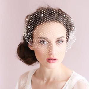 Perle Perlé Birdcage Veil Une Couche Délicate Main Net Accessoires De Cheveux De Mariée 2017 Nouveau Style