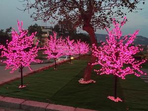 1152 piezas LED 6.5ft 2M LED Cherry Blossom Tree Luz de Navidad a prueba de agua 110 / 220VAC Christmas Wedding Party brithday decoración del jardín NUEVO