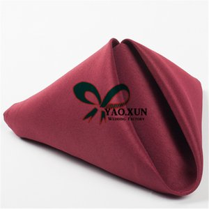 """Best Price 17""""*17"""" Polyester Table Napkin For Wedding Decoration Free Shipping"""