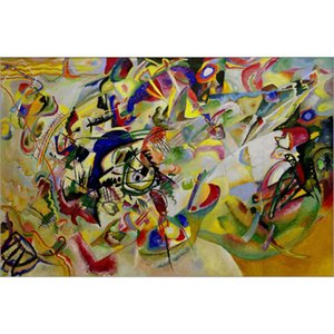Hand Painted abstract paintings Wassily Kandinsky Composition VII art oil canvas High quality home decor