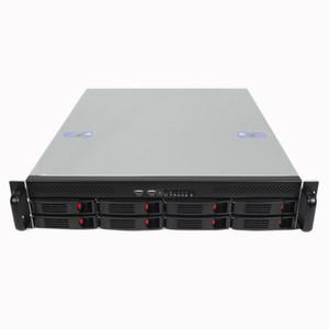 القرص 2U550mm8 الساخنة قابلة للتبديل مقاهي الإنترنت الكمبيوتر الخادم حالة نوع الرف تخزين هيكل الخادم قصيرة
