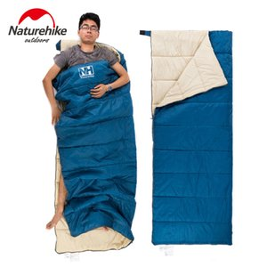 Vente en gros- NatureHike 3 couleurs sac de couchage ultra-léger Camping Portable Randonnée Escalade Garder au chaud 1900x750mm Double Couche Lazy Bag 800g