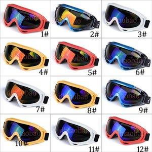 Moq = 10 pcs Unisex Colorido Esqui Óculos de Proteção Da Motocicleta Ao Ar Livre Esportes Óculos De Sol À Prova de Vento Cross-Country Antifog Óculos 12 Cores Frete Grátis