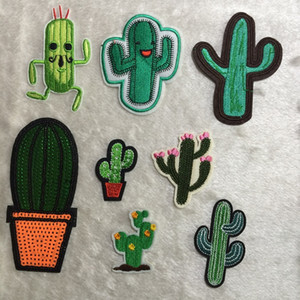 Artificiale Mini Cactus Piante Patch, Ricamo Vestiti Patch di Cactus, Cucire, Patch di ferro, Appliques per biker, Giacca