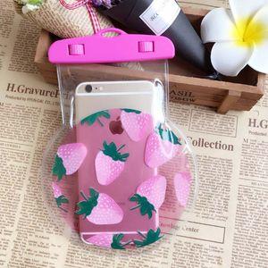 100pcs Fresh 2017 New Fruit PVC Waterproof Phone Bag for iPhone Water Proof Underwater Bag