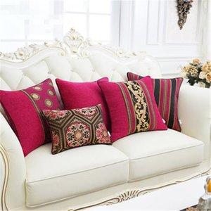 Luxo Clássico europeu Chenille Jacquard capa de almofada fronha Sofá carro Cushion Pillow Home Textiles Fontes Preferências