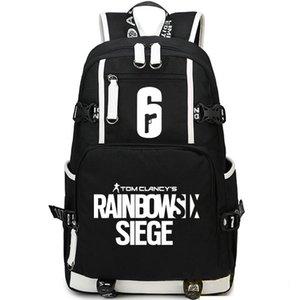 Arco-íris seis mochila Shoot play daypack Siege 6 mochila Mochila de jogo Saco de escola de esporte Pacote de dia ao ar livre