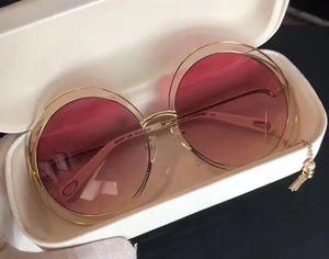 Las mujeres CARLINA CE 138S oro transparente gafas de sol rosadas 62mm moda de gafas de sol gafas de sol de las mujeres con la caja