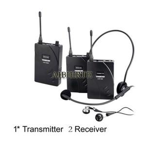 2017 Nueva Takstar sistema de guía de viaje inalámbrico Teach Train Tourism dispositivo de voz auriculares de enseñanza 1 Transmisor 2 Receptor envío gratis