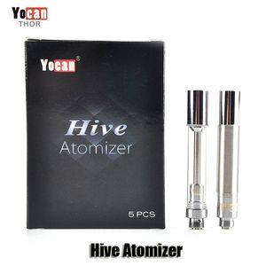 100% Original Yocan Hive Atomizer Wax Vaporizador Cartuchos de aceite grueso Glass Tank 2 en 1 Clearomizer para Hive Kits Auténtico