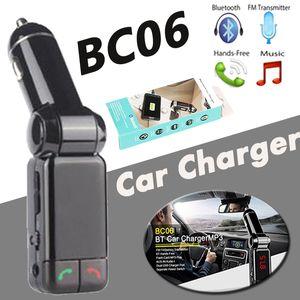 BC06 Caricatore per auto Bluetooth BT Amplificatore per uso musicale BT Wide Supporto BC-06 Altoparlante per schede TF Mini Dual Ports Ricarica FM Trasmettitore FM