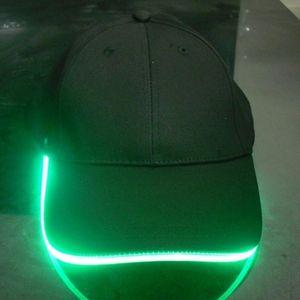 мода новый LED освещенный Hat партии Бейсбол хип-хоп регулируемая ткань Hat Glow Cap