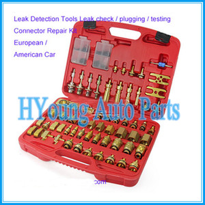 fit European American Car Leak Detection Tools Leak check   testing Connector Repair tools Kit auto air conditioning part