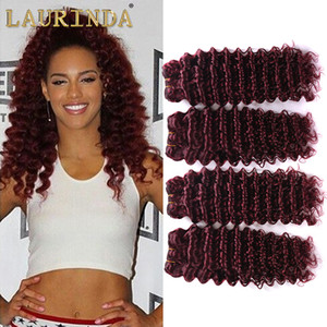 8A Grado 4 peruana Paquetes 99J Borgoña profunda del pelo de la onda profunda del pelo humano teje extensiones del vino rojo del Perú