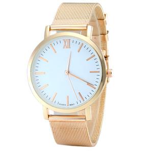 Nueva marca de moda casual de venta directa Rose Gold Mesh Belt Geneva Watch Ladies Women de cuarzo Ultra delgada relojes de acero inoxidable