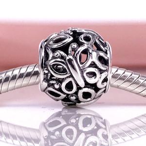 Autêntico 925 Sterling Silver Butterfly jardim Charme Fit DIY Pandora Pulseira E Colar 790895
