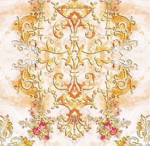 papel de parede para casas de banhoEuropean pastoral pattern parquet de mármore 3d piso papel de parede