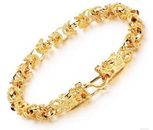 Ofertas especiales 18 k oro joyas Personalidad hombre pulsera fresca duradera preservación del color pulseras de botón bibcock