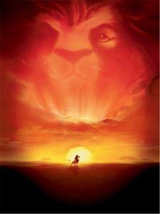 König der Löwen Cartoon Hintergrund Vinyl Tuch Schöne Sonnenuntergang Digital Kid Studio Hintergrund Kinder Fotografie Hintergründe 5x7ft
