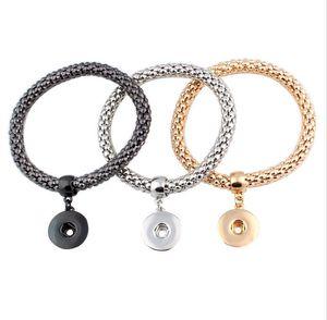 Mode Neue DIY Noosa Chunk 18mm Metallknopf Armband DIY Ingwer Druckknopf Aussage Schmuck druckknopf Armband Charme