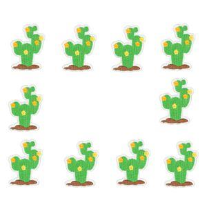 10 PCS cactus bordados patches para roupas de ferro patch de flor para roupas applique acessórios de costura em adesivos roupas de ferro em remendos