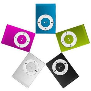 Mini-Clip MP3-Player Günstige Bunte Unterstützung mp3-Player mit Kopfhörer, USB-Kabel, Kleinkasten, Unterstützung Micro SD / TF Karten