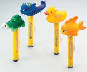 Wholesale-4pcs / set Termómetro flotante del animal doméstico de la piscina Termómetro del pato de la ballena del pato de la ballena