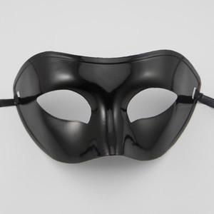 Erkek Masquerade Maske Fantezi Elbise Venedik Maske Masquerade Maskeleri Üst Yarım Yüz Maskesi ile Opsiyonel Renkler (Siyah, Beyaz, Altın, Gümüş)