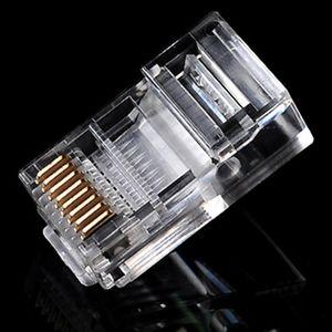 10000 pçs / lote Plugue de Rede RJ45 RJ-45 CAT5 Cat5e Cabo Cat6 Plug Modular Conector de Rede Frete Grátis novo