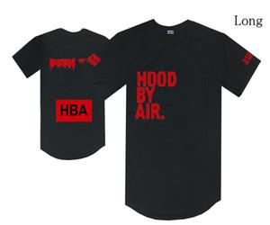 cappuccio da maglietta aria HBA stato trill tees hip hop nero streetwear casual top lunghi uomo donna cotone o collo s-xxl sconto