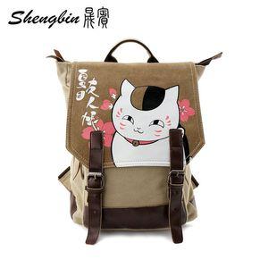 Оптовая продажа-2016 аниме манга Нацумэ Yuujinchou рюкзак холст сумка дети ранцы унисекс холст аниме дорожная сумка 40 * 29*15 см