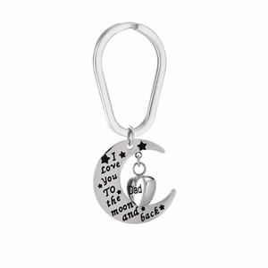 Papa je t'aime à la lune et retour Memorial Jewelry Porte-clés Crémation Urne Pendnat For Ashes