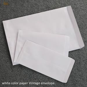 2018 begrenzte reale 100 teile / los 32x23 cm Blank China Vertikale Umschlag Geschenk Mailer für Bargeld / samen / Kraftpapier Braun / weiß Farbe 120gsm Vintage