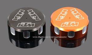 Мотоцикл задний тормозной насос жидкость крышка резервуара крышка модифицированные части оранжевый черный для KTM Duke 690 терпеть R SMC/R Supermoto LC4