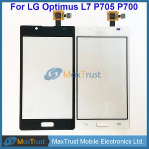 """Top qualité 4.3"""" Pour LG Optimus L7 P705 P700 écran tactile Digitizer verre objectif avant panneau capteur Noir Couleur Blanc"""