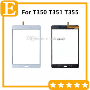 logo sayısallaştırıcı 20PCS / Lot ile Samsung Galaxy Tab A 8.0 T350 T351 T355 için Teyp Dokunmatik Ekran Digitizer Cam Lens